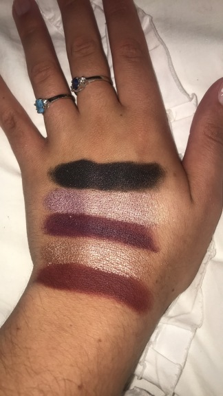 Top to Bottom: Berry Treasure, Ballsy, Rockstar, Glitz & Glam, Sparks